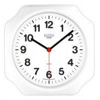 Nástěnné hodiny na zeď bílá barva hranaté