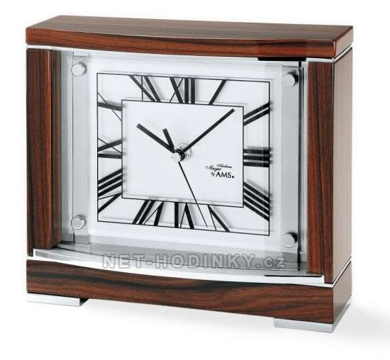 Rádiem řízené stolní hodiny dřevěné AMS 5110