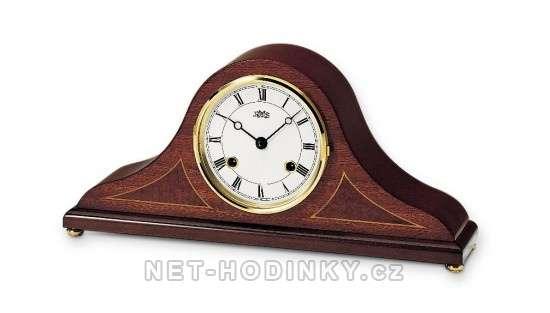 Luxusní quartz stolní hodiny dřevěné AMS 132/8 mahagon