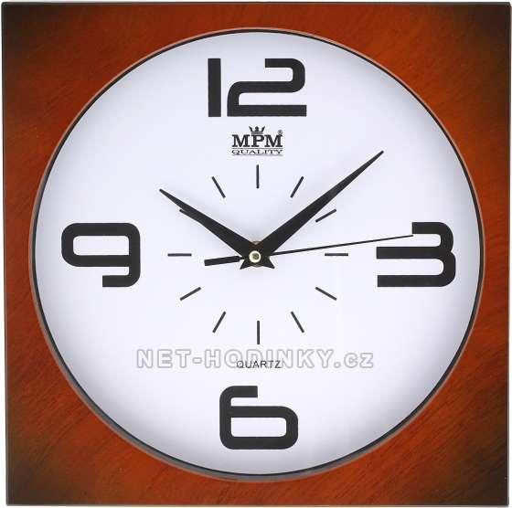 MPM Quality Plastové hodiny na zeď