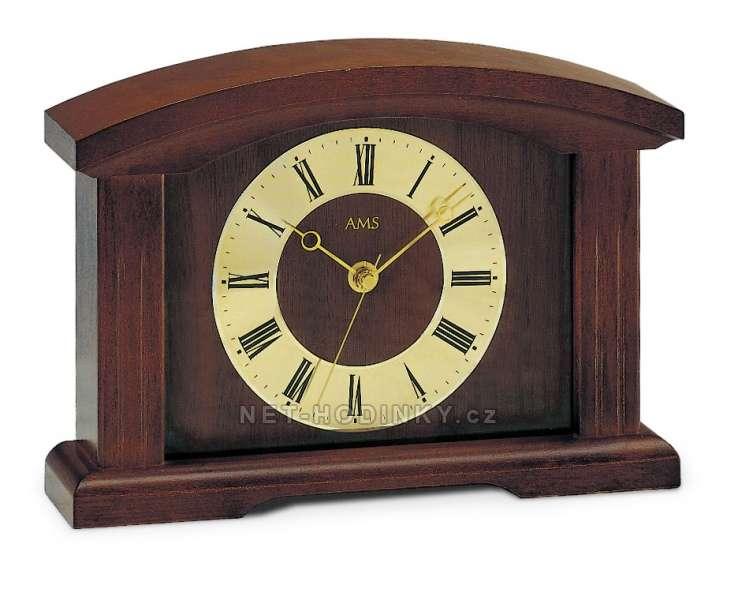Stolní hodiny AMS 5138/1 ořech, AMS 5138/4 dub, AMS 5138/9 třešeň