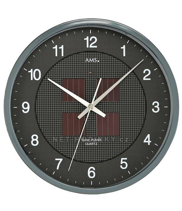 Nástěnné solární hodiny kulaté AMS 9368 Německé hodiny AMS jsou hodiny s trvalou hodnotou