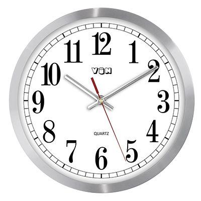 Hodiny nástěnné kovové s tichým chodem SWEEP nástěnné hodiny na zeď do kuchyně...