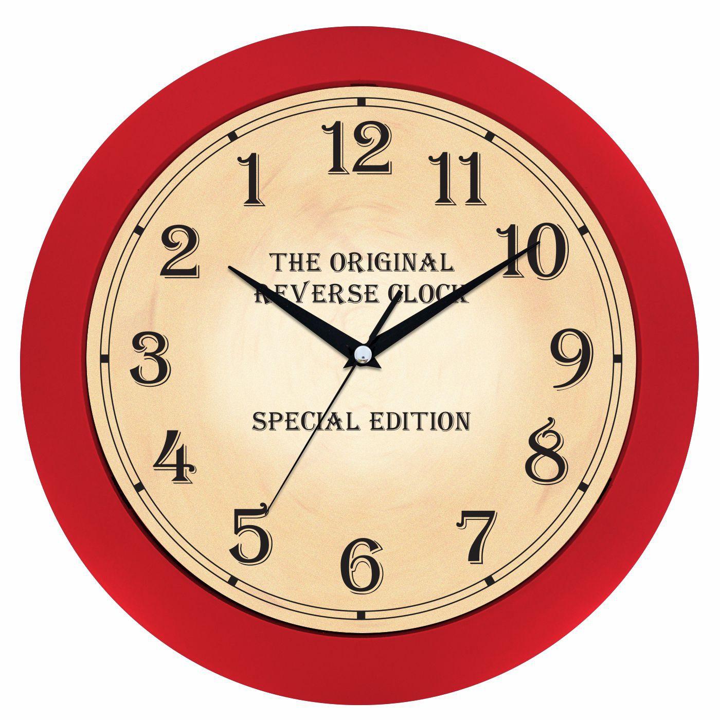 nástěnné hodiny kulaté na zeď, do kuchyně, pracovny, restaurace červená