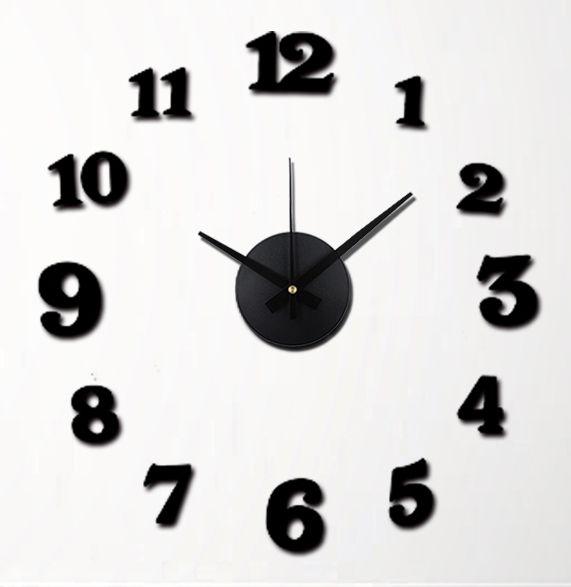 Nástěnné hodiny na stěnu nalepovací, nástěnné hodiny samolepící na zeď Nástěnné nalepovací hodiny 6