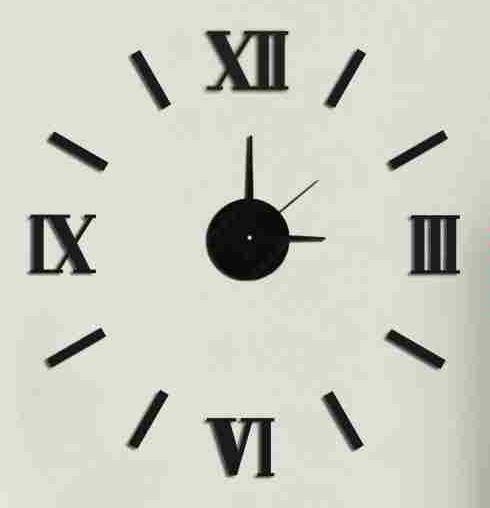 Nástěnné hodiny na stěnu nalepovací, nástěnné hodiny samolepící na zeď Nástěnné nalepovací hodiny 7