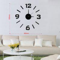 nástěnné nalepovací hodiny na zeď