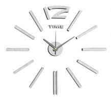 Nalepovací nástěnné hodiny ve stříbrném provedení E01.3659