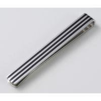 MONO spona na kravatu, 3x černý proužek (60051)