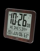Rádiem řízené digitální hodiny  s budíkem JVD hnědé DH9335.2