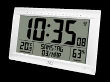 Rádiem řízené digitální hodiny s budíkem JVD stříbrné RB9075.2