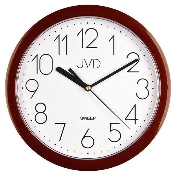 Nástěnné hodiny JVD sweep HP612.16 staro-růžová barva metalická SKLADEM