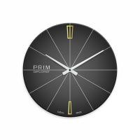 Nástěnné hodiny skleněné PRIM černé