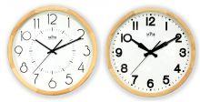 Dřevěné nástěnné hodiny s jednoduchým ciferníkem E07.3662
