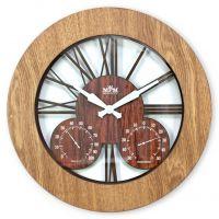 Dřevěné designové nástěnné hodiny E07.3664.01274