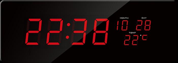 Nástěnné hodiny Digitální hodiny JVD červená čísla DH2.2 Nástěnné hodiny