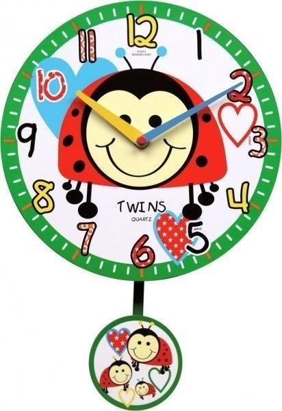 Nástěnné dětské hodiny Twins 10411 brouček 25cm