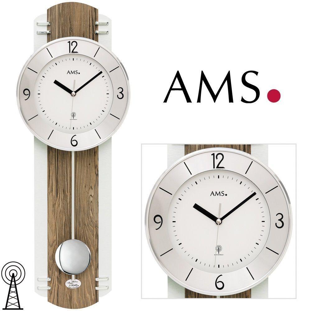 Moderní designové hodiny kyvadlové rádiem řízené AMS 5292