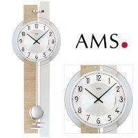 Nástěnné hodiny s kyvadlem AMS 7441