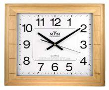 Velké dřevěné nástěnné hodiny obdélník PW999.01F přírodní barva skladem