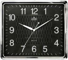 Hodiny plastové čtvercové hranaté E01.2929.1, hodiny na zeď MPM Quality