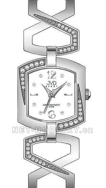 Náramkové hodinky JVD steel J4109.1.1, J4109.2.2, J4109.3.3, dámské hodinky J4109.1.1