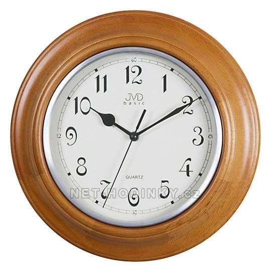 JVD Nástěnné hodiny na stěnu, nástěnné hodiny na zeď NS27043.41.3 třešeň