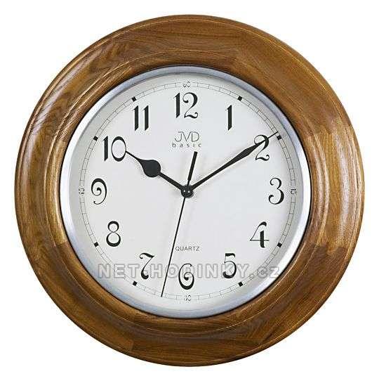 JVD Nástěnné hodiny na stěnu, nástěnné hodiny na zeď NS27043.11.1 ořech
