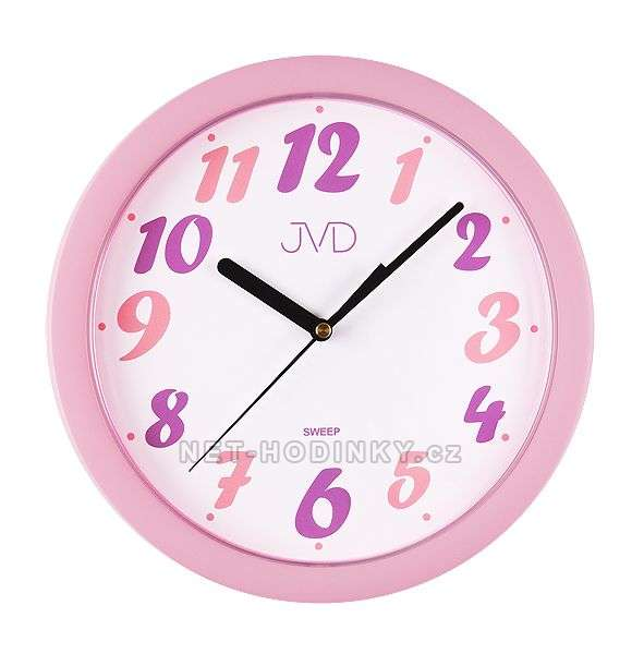 JVD Nástěnné hodiny na stěnu, dětské nástěnné hodiny na zeď SWEEP HP612.21.1