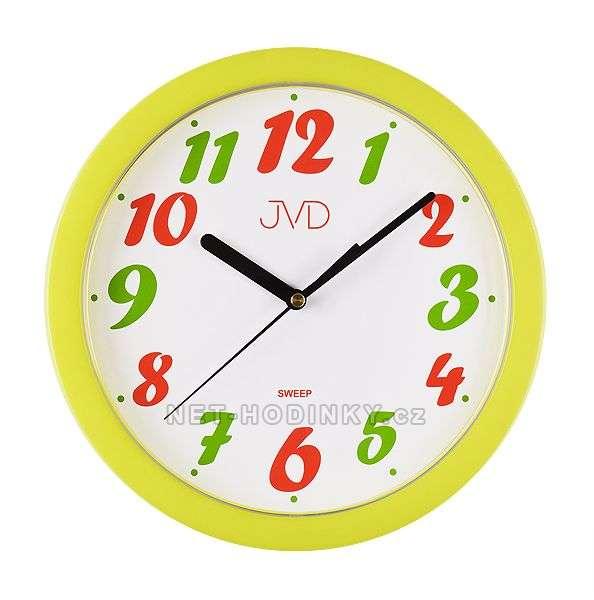 JVD Nástěnné hodiny na stěnu, dětské nástěnné hodiny na zeď SWEEP HP612.22.2
