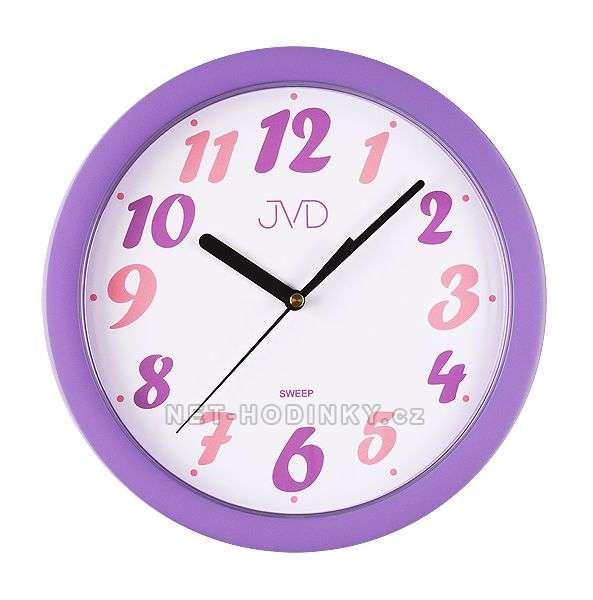 JVD Nástěnné hodiny na stěnu, dětské nástěnné hodiny na zeď SWEEP HP612.23.3