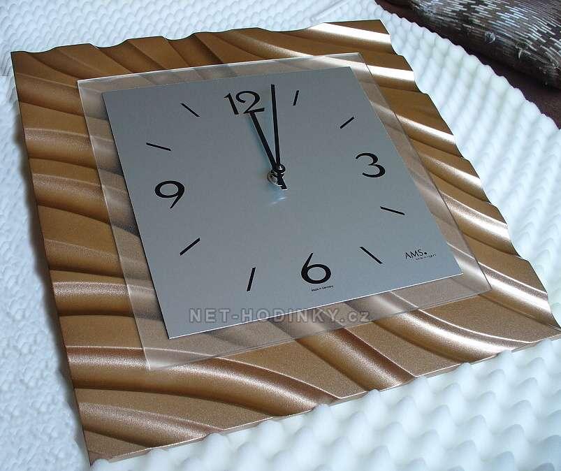 Designové nástěnné hodiny AMS 9329