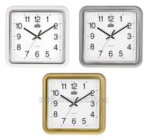 Plastové hodiny čtverec E01.2928.S, čtvercové, hranaté hodiny na zeď MPM Quality