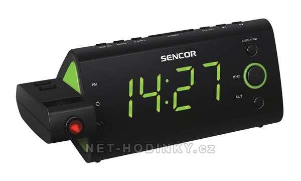 Sencor Radiobudík SENCOR SRC-330 GN projekční zelená