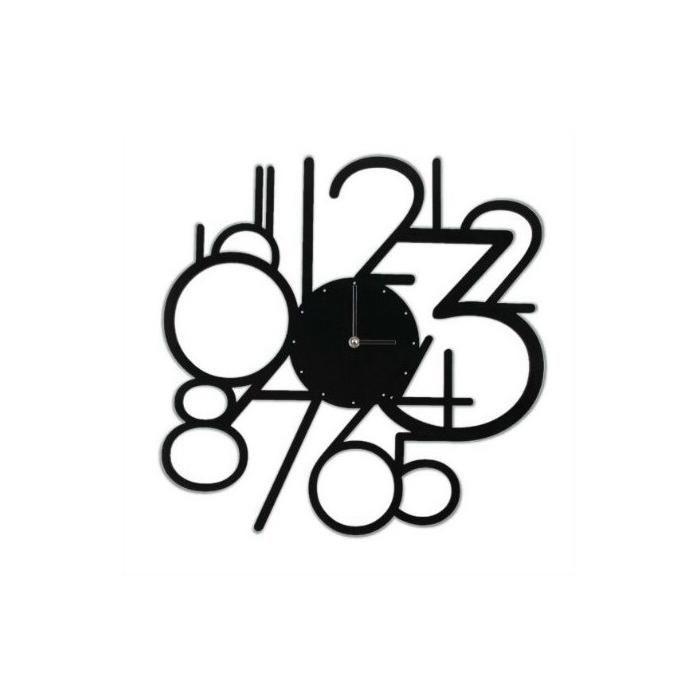 CalleaDesign Designové nástěnné hodiny 1501 Calleadesign 30cm Barva černá