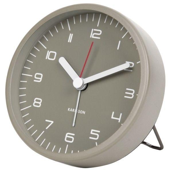 Nástěnné hodiny Designový budík 5647GY Karlsson 9cm Nástěnné hodiny