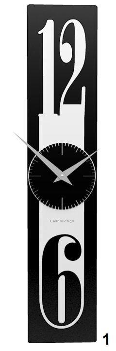 Designové hodiny 10-026 CalleaDesign Thin 58cm (více barevných verzí) Barva antracitová černá-4