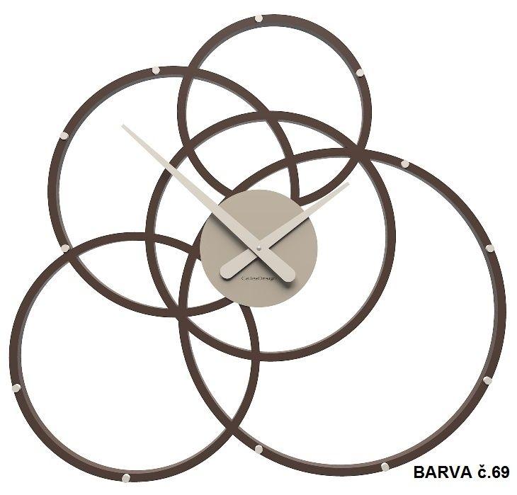 Nástěnné hodiny Designové hodiny 10-215 CalleaDesign Black Hole 59cm (více barevných verzí) Barva béžová (tělová)-23 Nástěnné hodiny