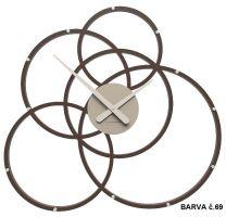 Designové hodiny 10-215 CalleaDesign Black Hole 59cm (více barevných verzí) Barva růžová lastura (nejsvětlejší)-31