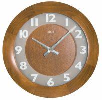 nástěnné kulaté dřevěné hodiny na stěnu