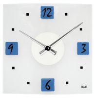 Nástěnné hodiny Moderní skleněné nástěnné hodiny na zeď čtvercové designové hodiny žlutá H&H Nástěnné hodiny