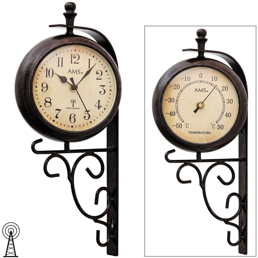 Retro designové nástěnné hodiny AMS 5961 oboustranné