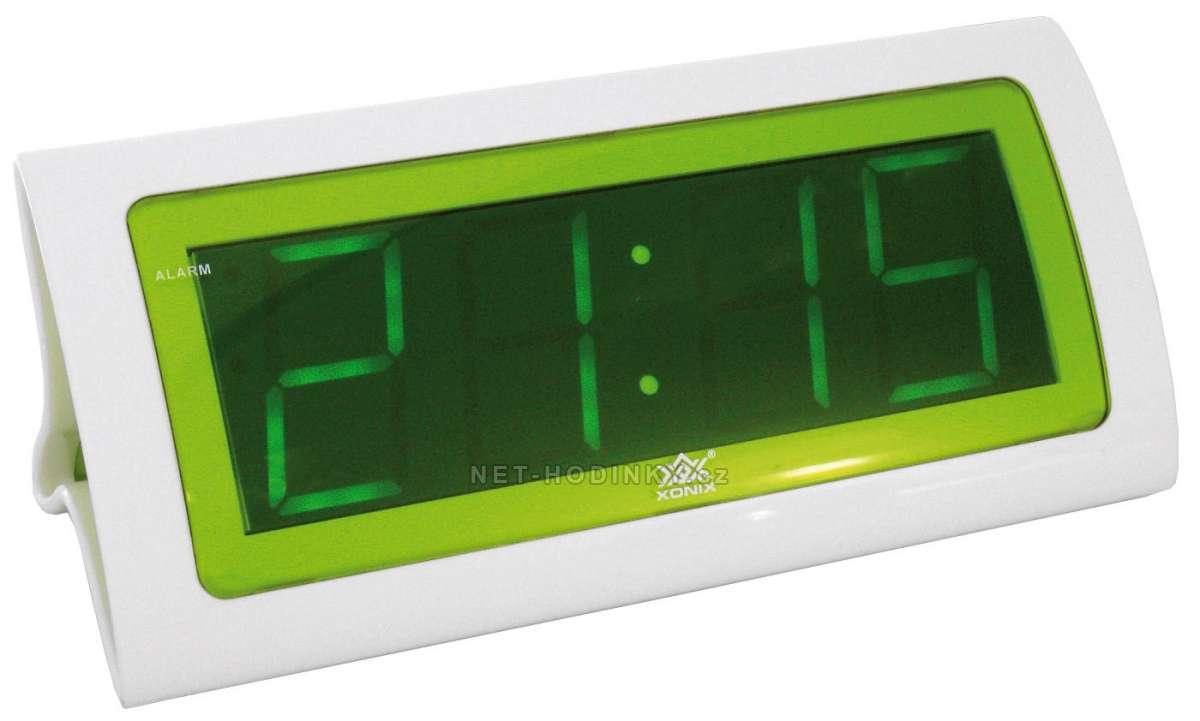 digitální budíky, budík s adaptérem B1822GR zelený