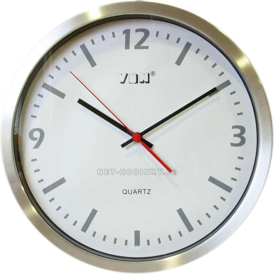Hodiny nástěnné kovové HAM2214.3, hodiny na zeď