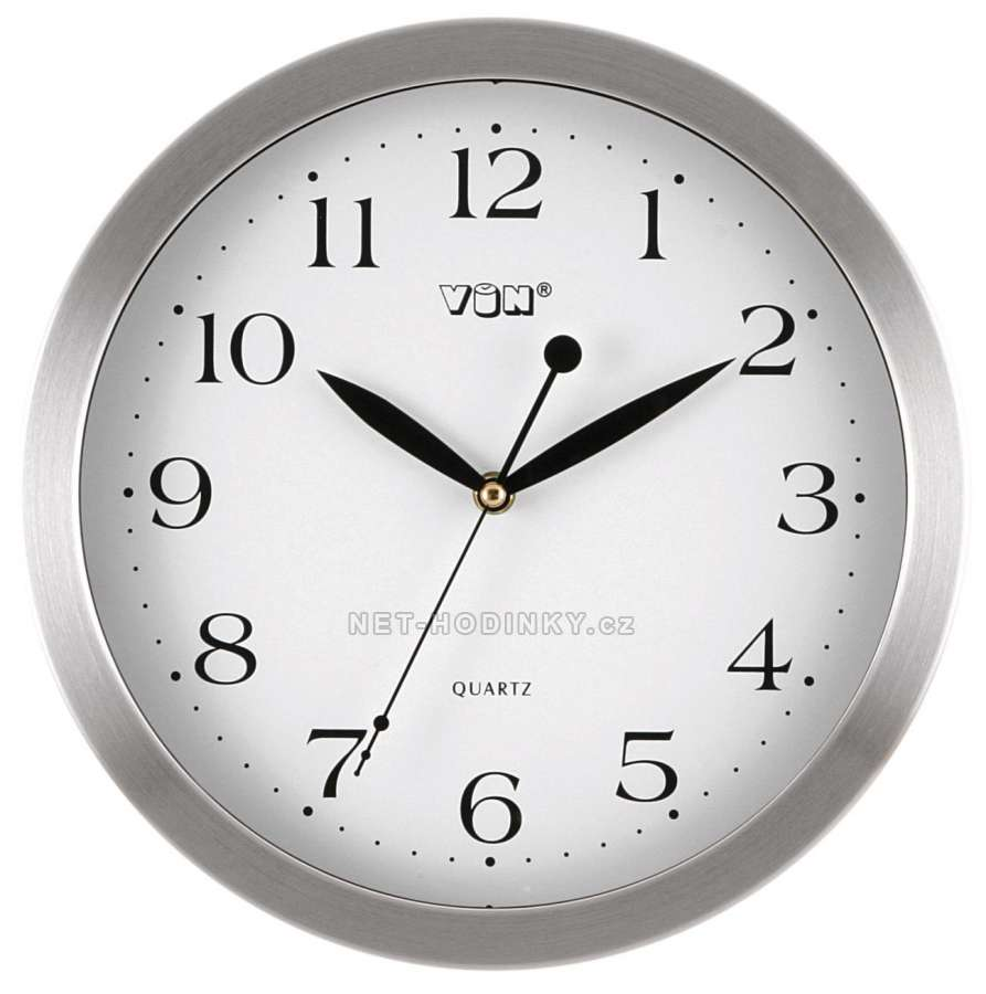 Hodiny nástěnné kovové (HPW046.4), hodiny na zeď