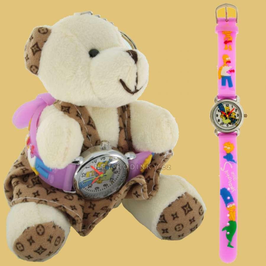 Disney Náramkové dětské hodinky NHT255, hodinky pro holky, pro kluky, dívčí hodinky, chlapecké hodinky Simpson