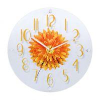 Skleněné nástěnné hodiny motiv Gerbera H9690.1, H9691.3, H9692.2