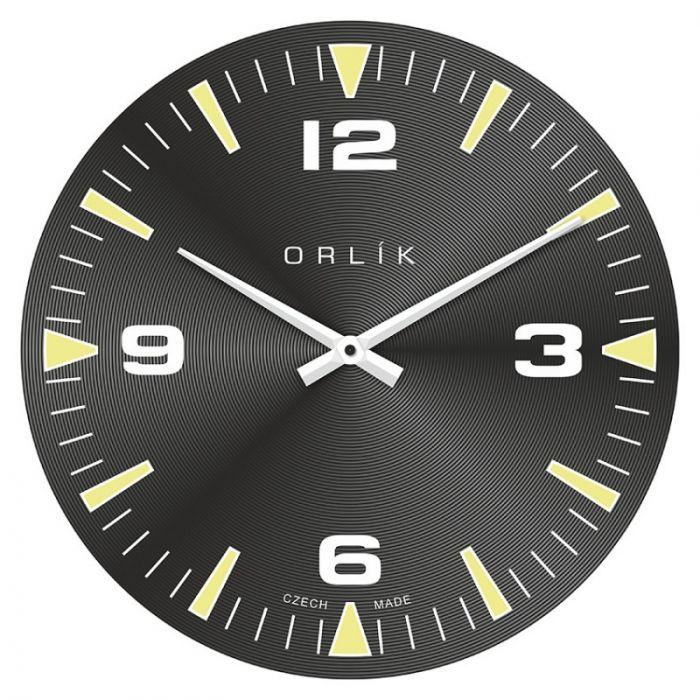 nástěnné hodiny černé s tichým chodem
