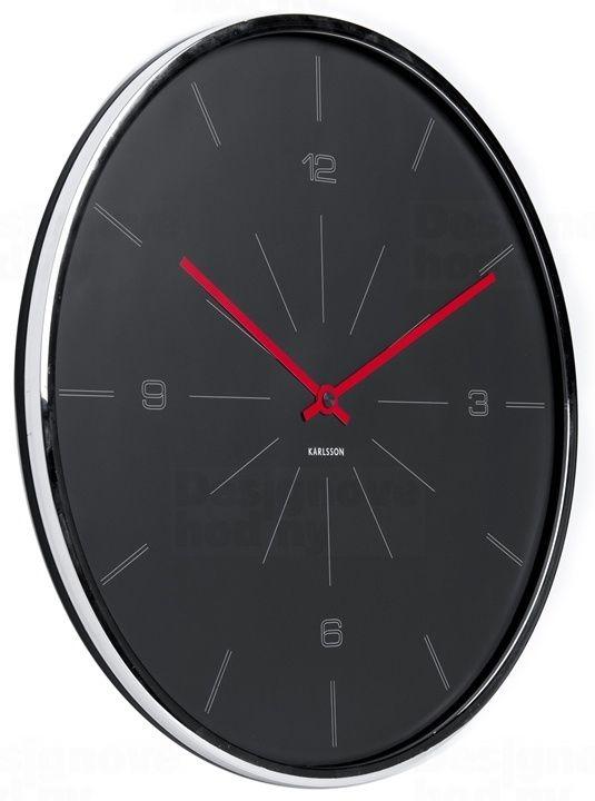 Velké slim designové nástěnné hodiny 5644GY Karlsson