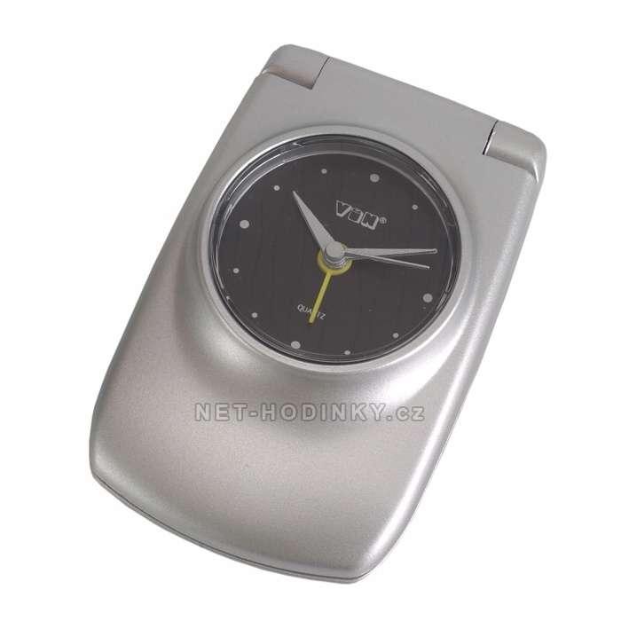 Bateriový budík s kalkulačkou BDN0303S, BDN0303W, BDN0303BL, BDN0303B BDN0303S stříbrná